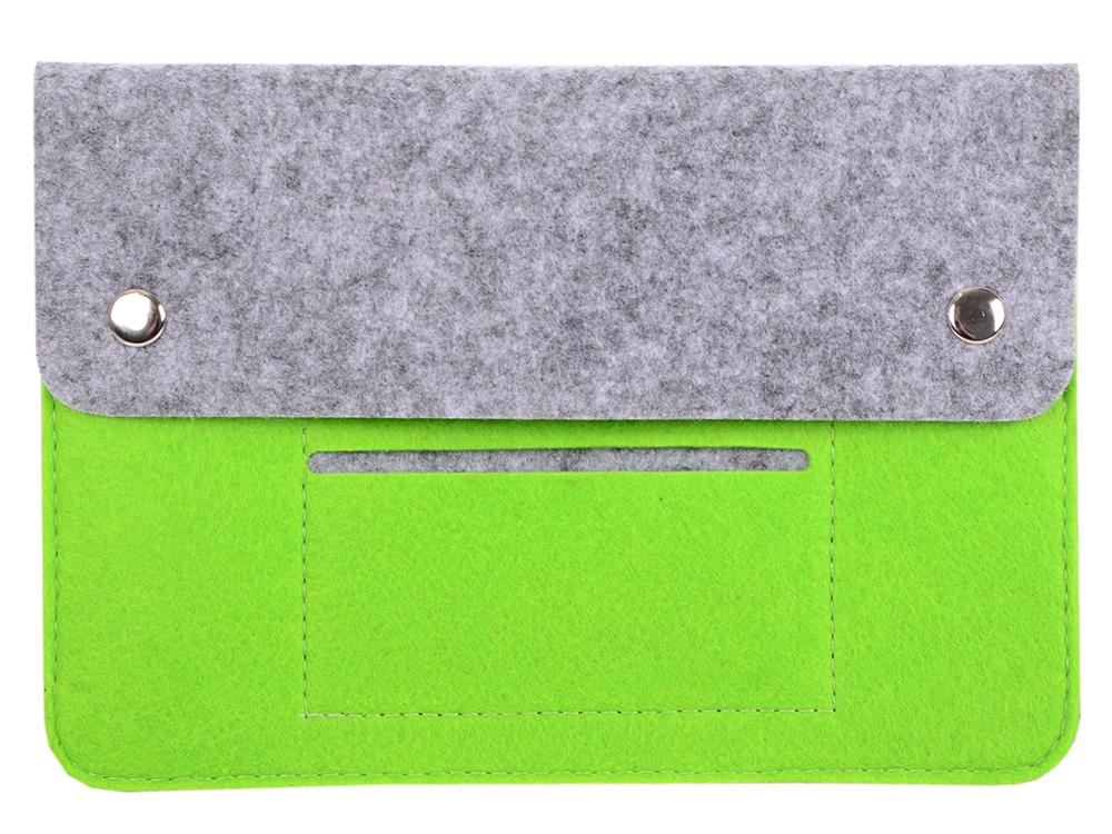 Чехол для планшета 8 зеленый чехол iq format с кожаными вставками на кнопках зеленый с черным