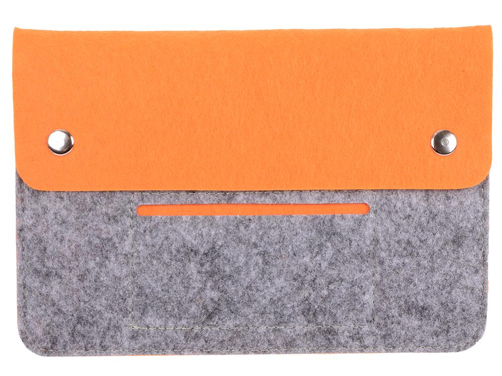 Чехол для планшета 8 IQ Format серый с оранжевым