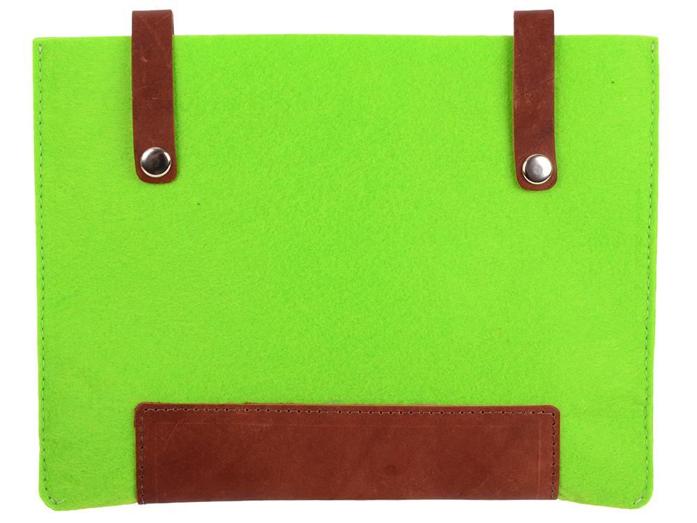 Чехол IQ Format с кожаными вставками на кнопках зеленый