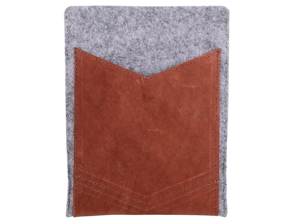 Чехол IQ Format с кожаным карманом 8 серый чехол iq format с кожаными вставками на кнопках зеленый с черным