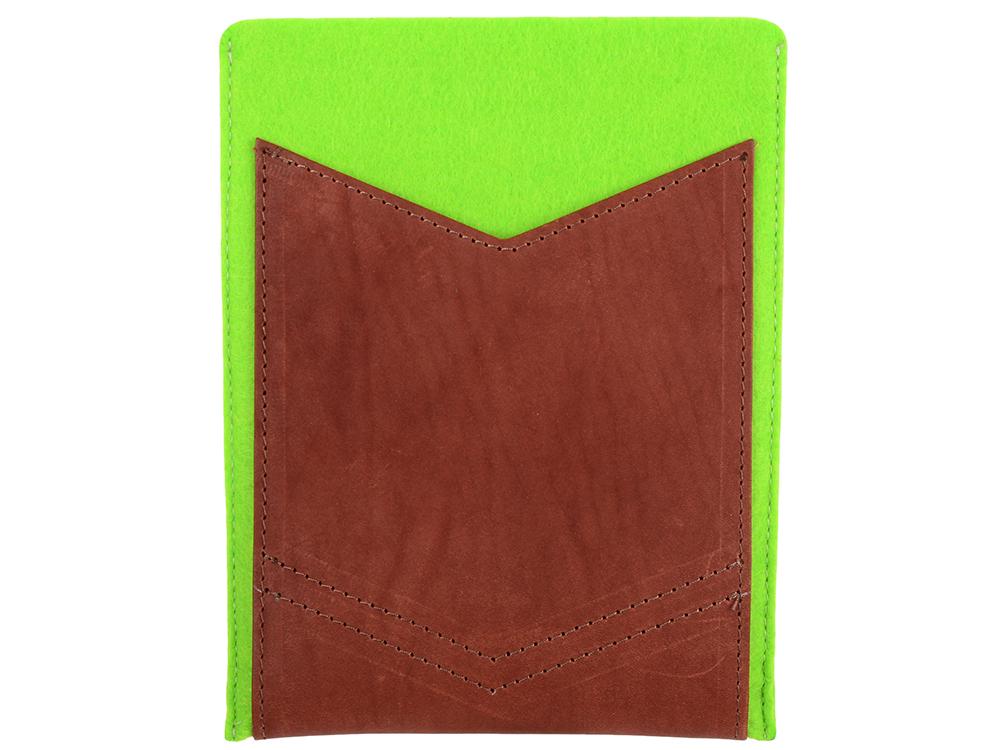 Чехол IQ Format с кожаным карманом 8 зеленый