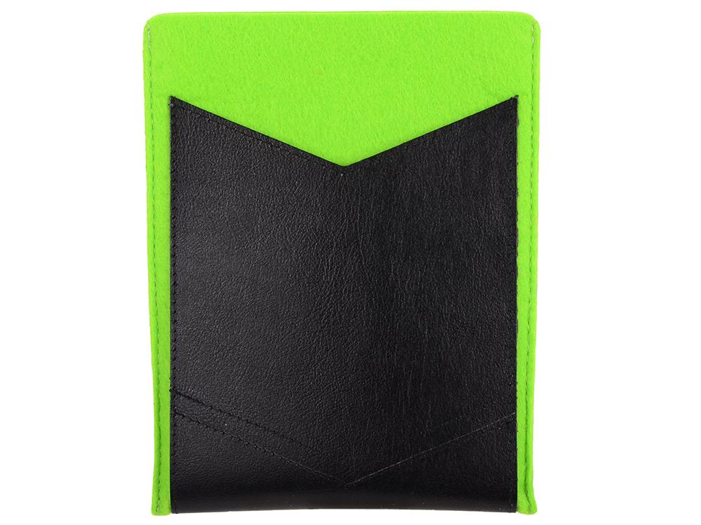 Чехол IQ Format с кожаным карманом 8 зеленый с черным