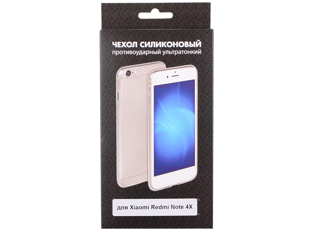 Чехол-накладка для Xiaomi Redmi Note 4X DF xiCase-14 клип-кейс, прозрачный силикон прозрачный прозрачный мягкий тонкий корпус для xiaomi redmi 4x