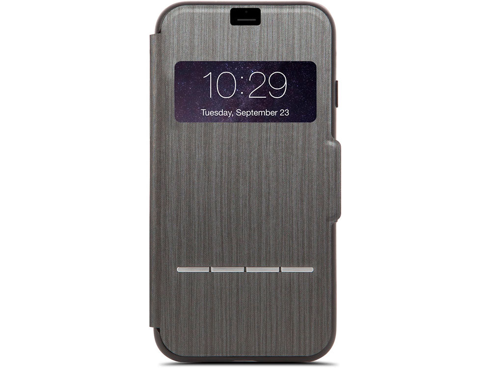 Чехол Moshi SenseCover для iPhone 7 Plus. Материал пластик/полиуретан. Цвет черный. чехол книжка moshi sensecover для apple iphone 6 plus 6s plus