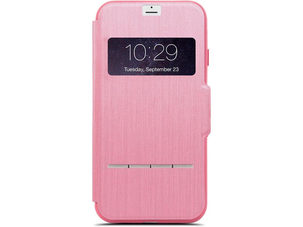 Чехол Moshi SenseCover для iPhone 7 Plus. Материал пластик/полиуретан. Цвет розовый. чехол книжка moshi sensecover для apple iphone 6 plus 6s plus
