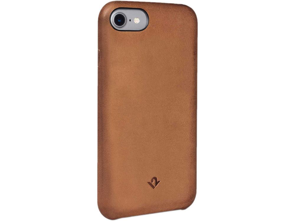 Чехол-накладка Twelve South Relaxed для iPhone 7. Материал натуральная кожа. Цвет светло-коричневый. чехол накладка twelve south relaxed для iphone 7 материал натуральная кожа цвет светло коричневый