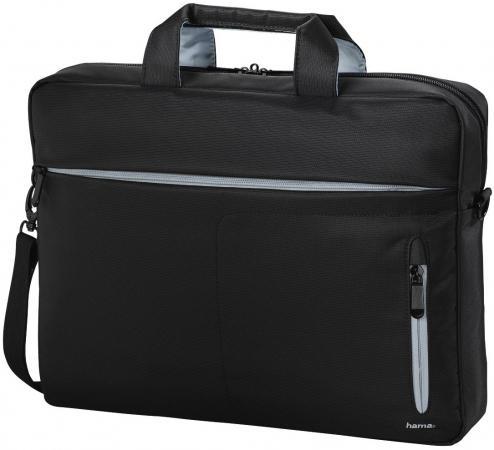 Сумка для ноутбука 15.6 HAMA Marseille Style полиэстер черный серый 00101281 сумка для ноутбука 17 3 hama sportsline bordeaux черно серый полиэстер 101094