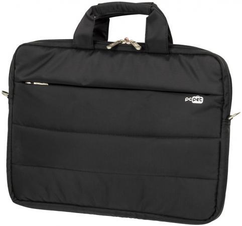 Сумка для ноутбука 15.6 PCPet PCP-15601BK нейлон черный сумка для ноутбука pc pet pcp a1317