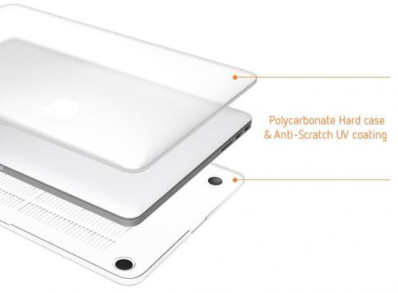 Чехол-накладка для ноутбука Macbook Pro 2016 13. Материал пластик. Цвет: прозрачный матовый. аксессуар чехол macbook pro 13 speck seethru pink spk a2729