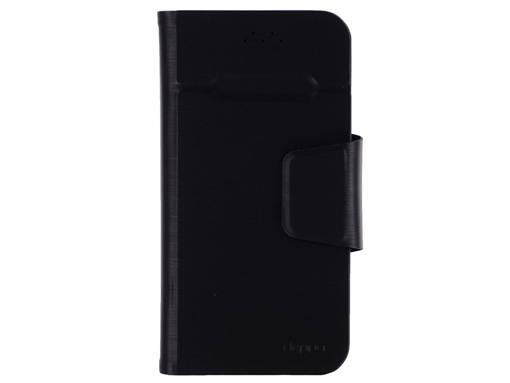 Чехол-подставка Deppa 87005 для смартфонов Wallet Fold M 4.3''-5.5'', черный