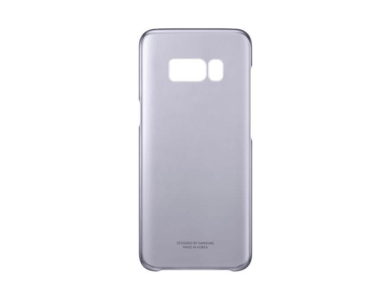 Чехол Samsung EF-QG955CVEGRU для Samsung Galaxy S8+ Clear Cover фиолетовый/прозрачный чехол клип кейс samsung silicone cover для samsung galaxy s8 фиолетовый [ef pg955tvegru]