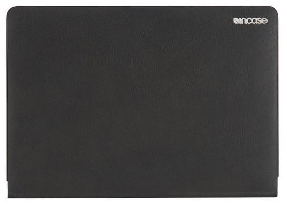 Чехол-накладка для ноутбука Apple MacBook 12. Материал полиуретан-текстурированная кожа. Цвет черны