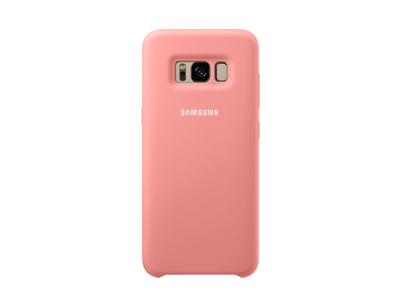 Чехол-накладка для Samsung Galaxy S8+ Samsung EF-PG955TPEGRU Silicone Cover Pink клип-кейс, силикон