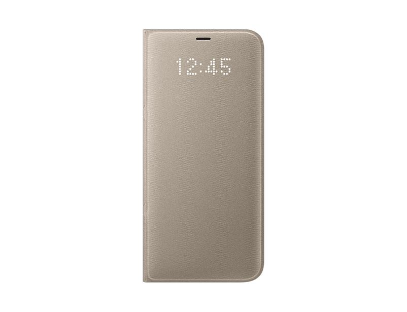 Чехол Samsung EF-NG955PFEGRU для Samsung Galaxy S8+ LED View Cover золотистый чехол samsung ef ng950pfegru для samsung galaxy s8 led view cover золотистый