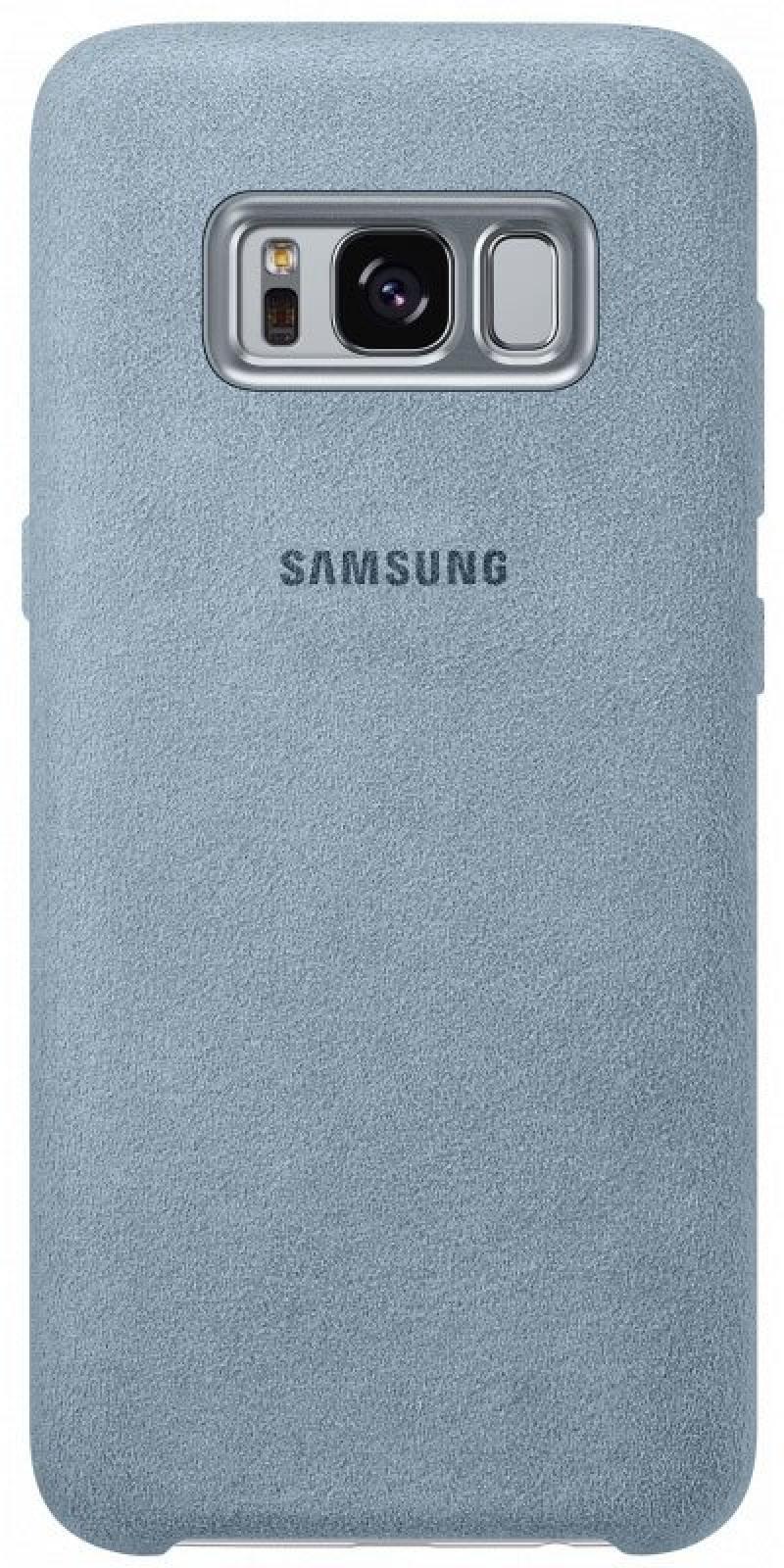 Чехол Samsung EF-XG950AMEGRU для Samsung Galaxy S8 Alcantara Cover голубой аксессуар чехол samsung galaxy s8 plus silicone cover purple ef pg955tvegru