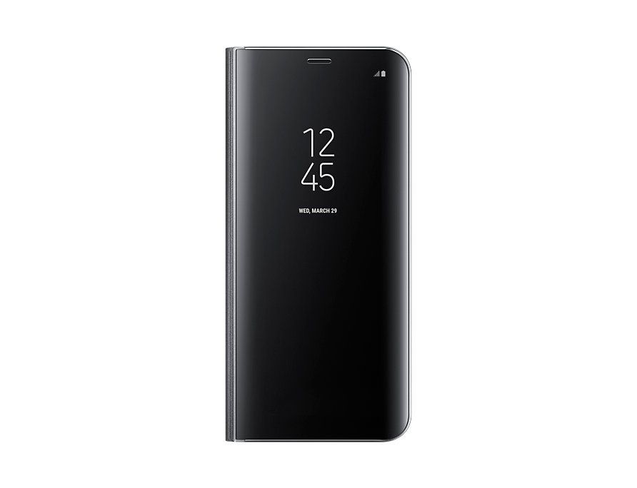 Чехол-книжка для Samsung Galaxy S8+ Samsung Clear View Standing Cover Black флип, поликарбонат, полиуретан аксессуар чехол samsung j3 2017 j330f zibelino clear view black zcv sam j330 blk