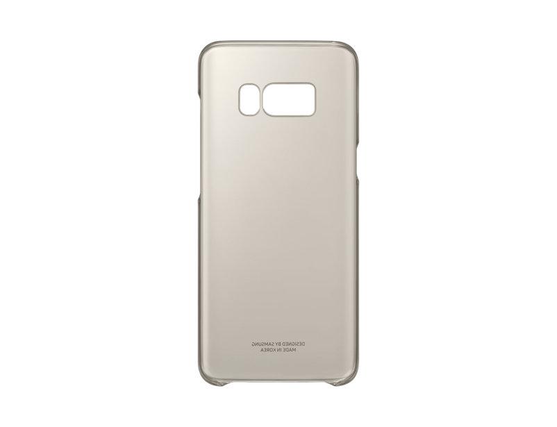 Чехол Samsung EF-QG955CFEGRU для Samsung Galaxy S8+ Clear Cover золотистый/прозрачный чехол для сотового телефона samsung galaxy s8 clear cover gold ef qg955cfegru