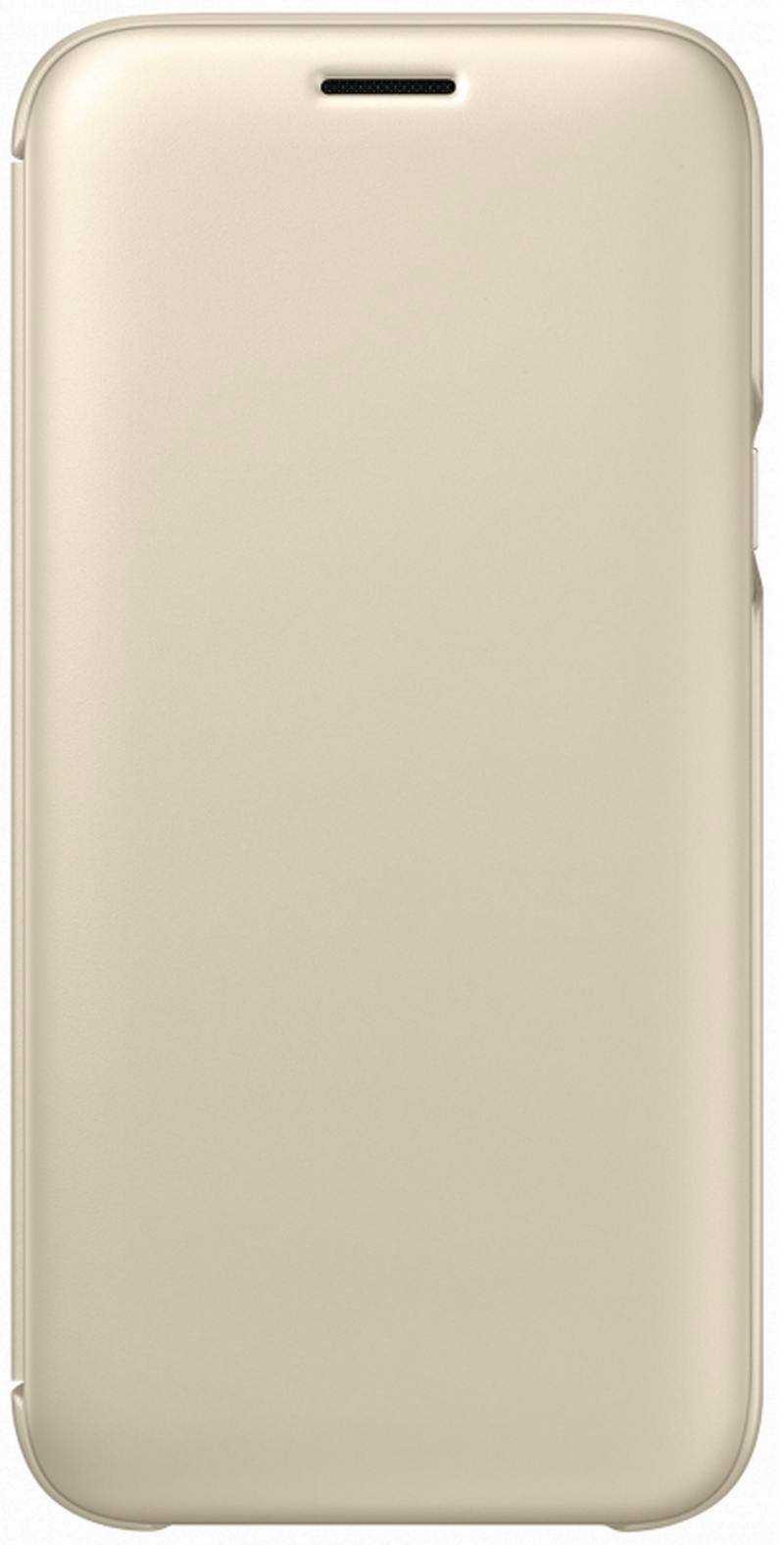 Чехол Samsung EF-WJ530CFEGRU для  Galaxy  2017 Wallet Cover золотистый
