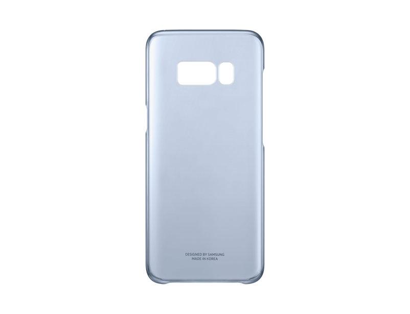 Чехол Samsung EF-QG950CLEGRU для Samsung Galaxy S8 Clear Cover голубой/прозрачный чехол для сотового телефона samsung galaxy s8 clear cover violet ef qg955cvegru