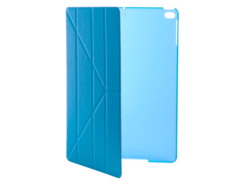 "Чехол IT BAGGAGE для планшета iPad 2017 9.7"" hard case иск.кожа голубой с тонир.задней стенкой ITIPAD51-4"