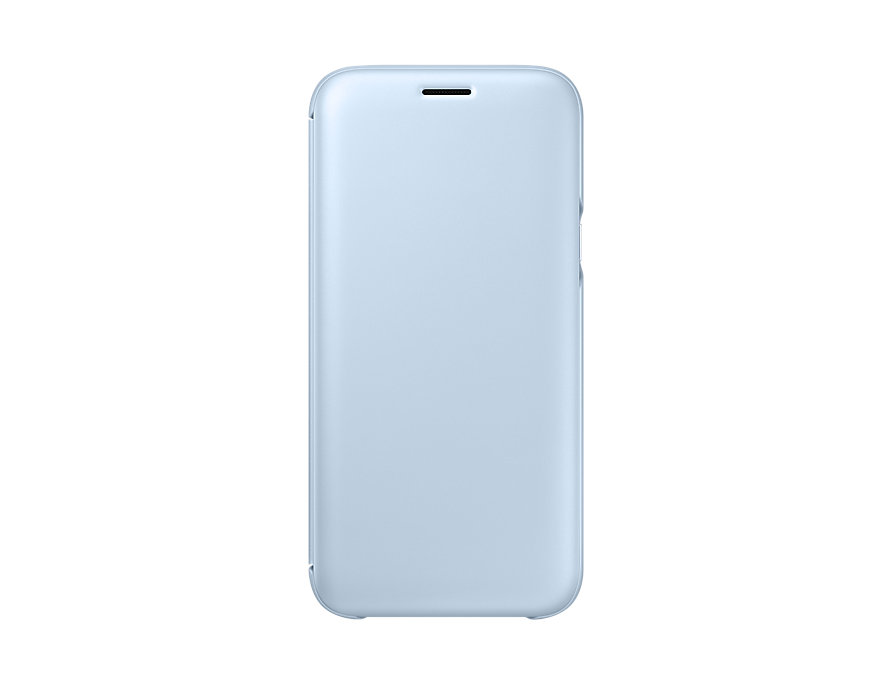 все цены на Чехол Samsung EF-WJ530CLEGRU для Samsung Galaxy J5 2017 Wallet Cover голубой онлайн