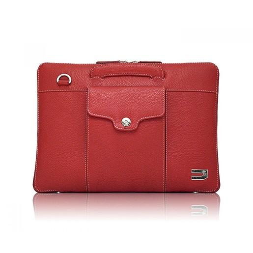 купить Сумка Urbano Compact Brief для ноутбука MacBook Pro 13 с Touch Bar. Материал кожа. Цвет красный. онлайн