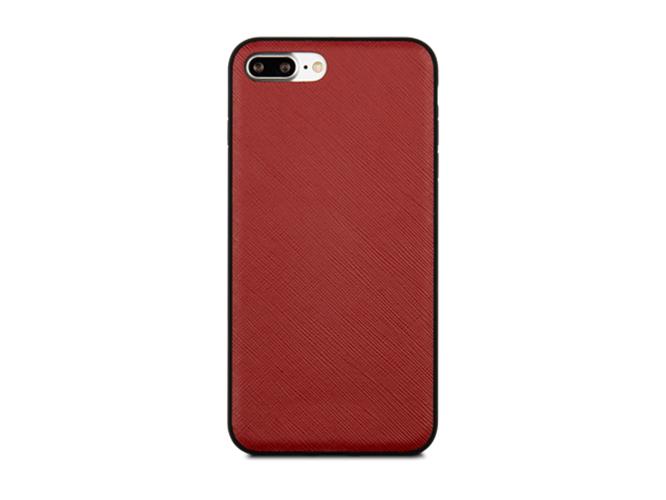 Чехол dbramante1928 London для iPhone 7 Plus. Материал натуральная кожа/пластик. Цвет красный. чехол mophie base case wrap для iphone 7 plus материал пластик цвет синий