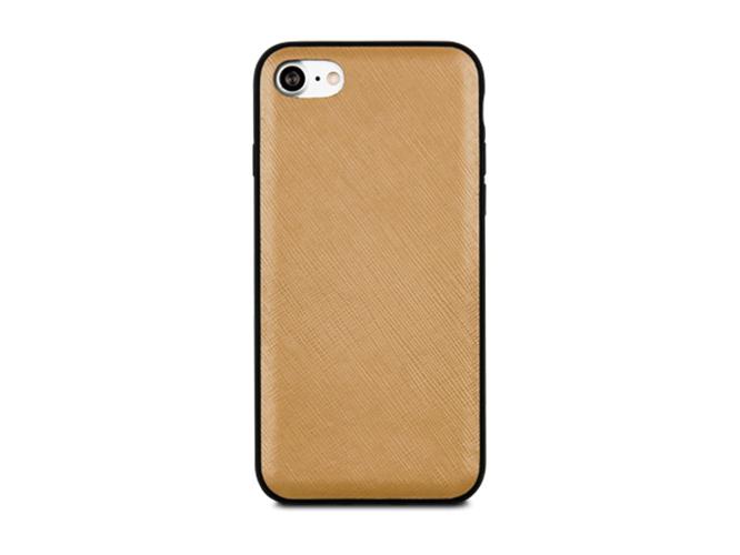Чехол dbramante1928 London для iPhone 7. Материал натуральная кожа/пластик. Цвет светло-коричневый. чехол dbramante1928 tokyo для ipad 2017 кожа пластик черный toninibl5068