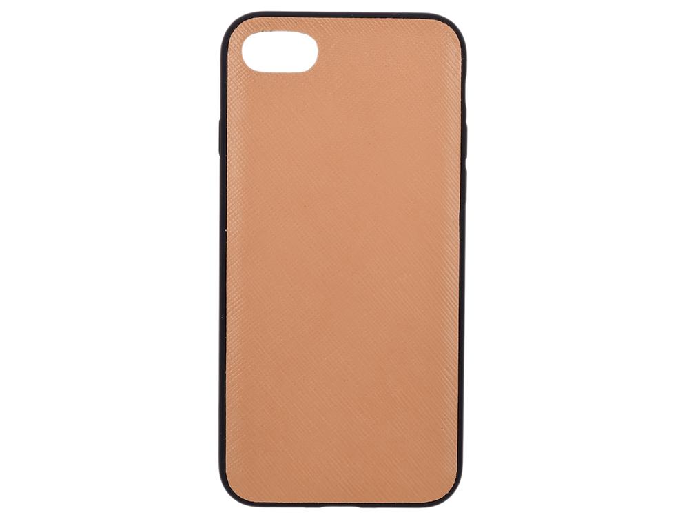 Чехол dbramante1928 London для iPhone 7. Материал натуральная кожа/пластик. Цвет светло-коричневый. ремешок dbramante1928 copenhagen для apple watch 42 мм серебристый светло коричневый