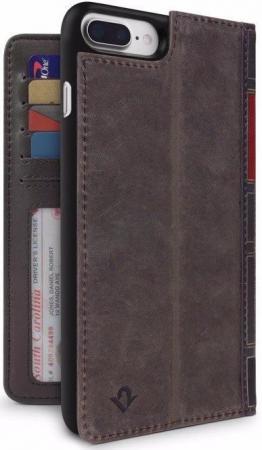 Чехол-книга в твердом переплете Twelve South BookBook для iPhone 7 Plus. Материал кожа. Цвет: коричн чехол twelve south bookbook для iphone 5 в спб