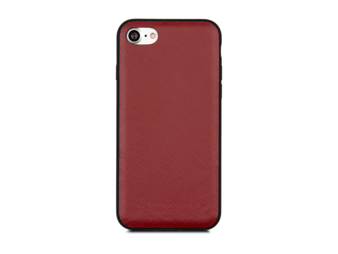 Чехол dbramante1928 London для iPhone 7. Материал натуральная кожа/пластик. Цвет красный. чехол dbramante1928 tokyo для ipad 2017 кожа пластик черный toninibl5068