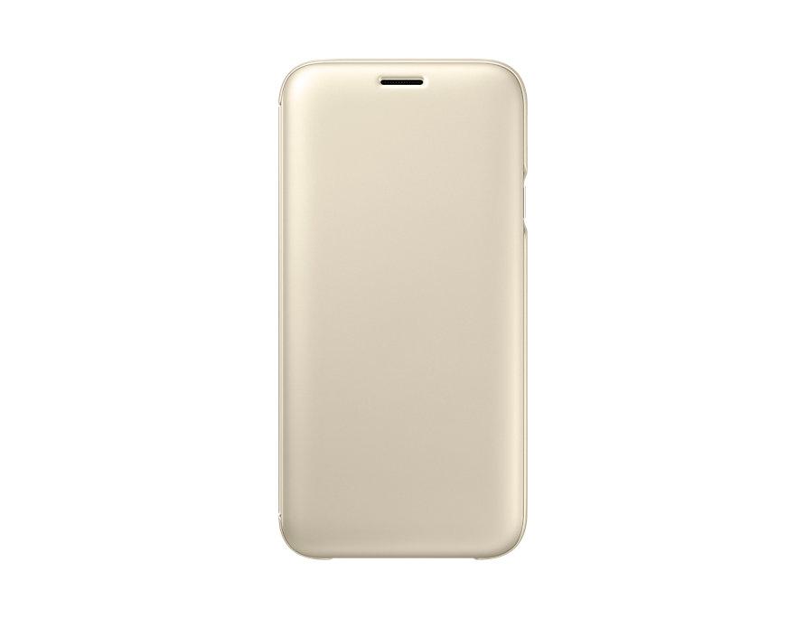 Чехол Samsung EF-WJ730CFEGRU для Samsung Galaxy J7 2017 Flip Wallet золотистый цена