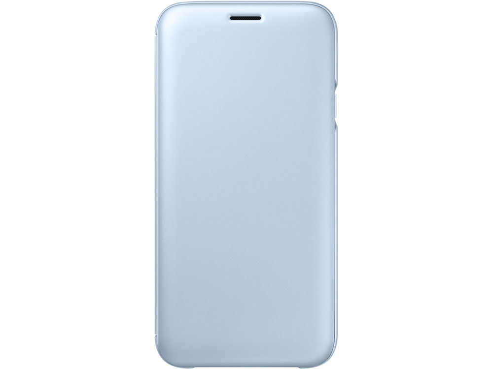 Чехол Samsung EF-WJ730CLEGRU для Samsung Galaxy J7 2017 Flip Wallet голубой цена и фото