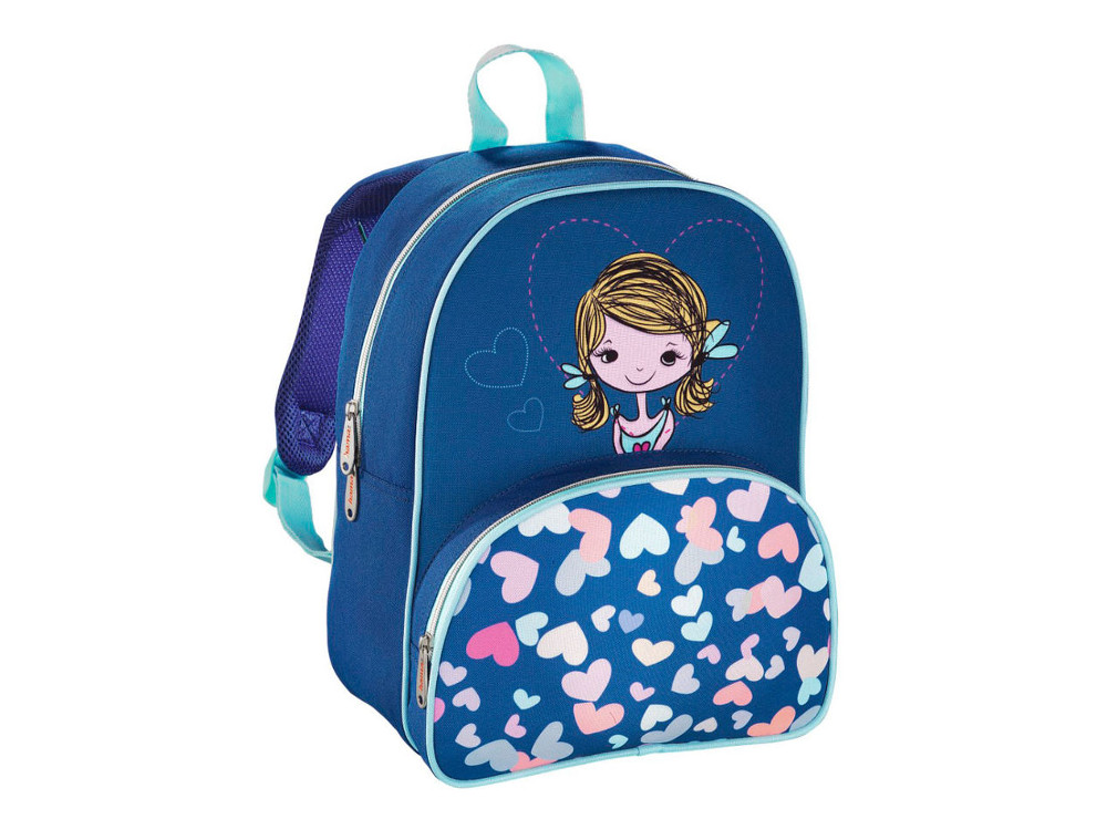 Рюкзак детский Hama Lovely Girl синий/голубой 00139103 рюкзак hama all out louth blue dream check голубой черный 22 л 00129218
