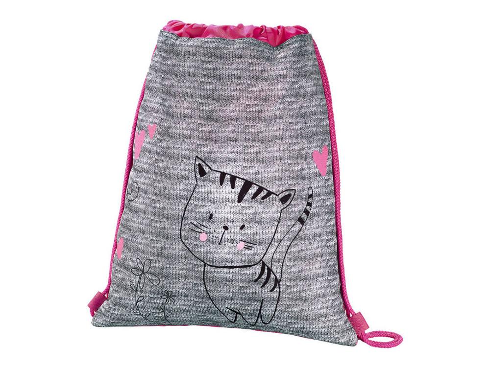 Мешок для сменной обуви Hama Lovely cat серый/розовый 00139113 hama пенал lovely cat