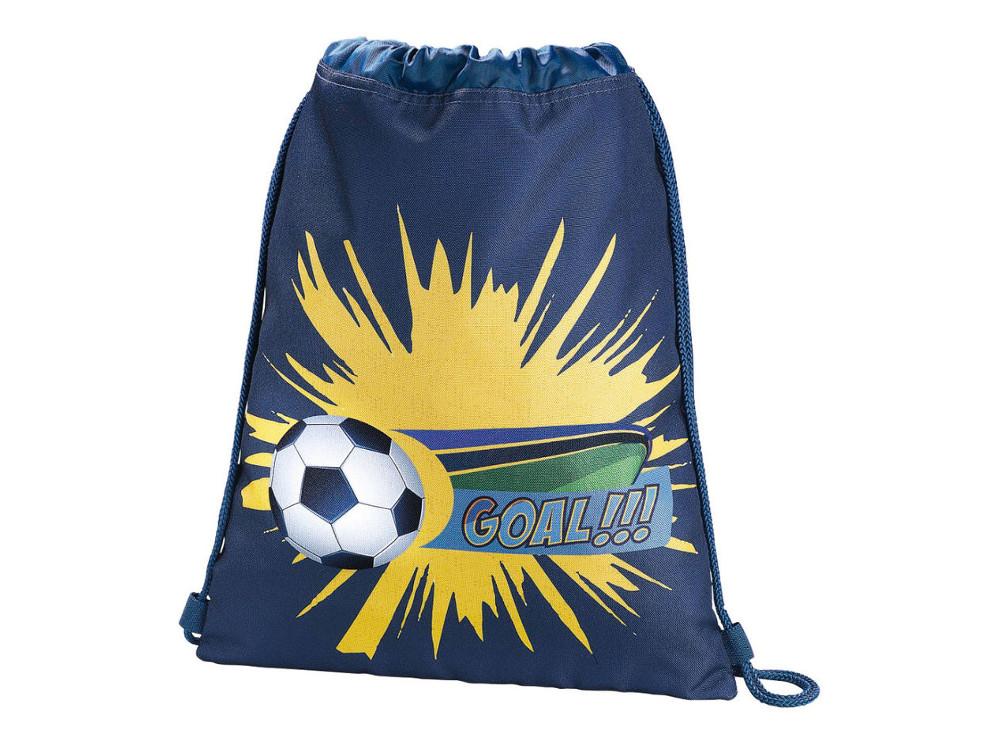 Мешок для сменной обуви Hama Soccer синий/голубой 00139107 сумка для обуви hama sweet owl розовый голубой