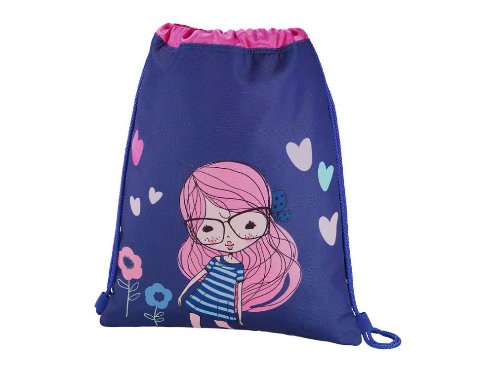 Мешок для сменной обуви Hama Pretty girl синий/розовый 00139114 мешок для обуви hama lovely girl 00139115
