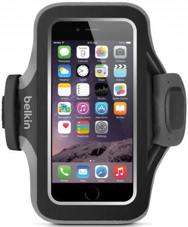 Чехол Belkin Slim-Fit Plus Armband для iPhone 6 чёрный F8W499btC00 belkin belkin 302617