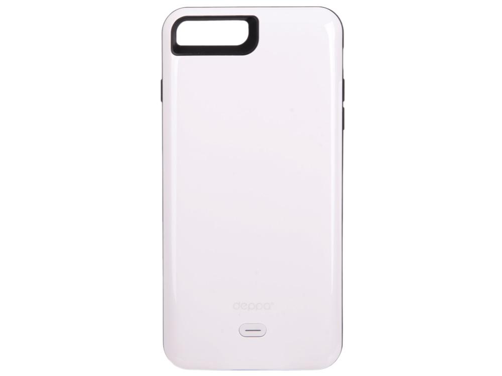 Аккумулятор Deppa Чехол-аккумулятор NRG Case для Apple iPhone 7 Plus, 3800mAh, белый, Deppa аккумулятор deppa apple watch nrg watch 900 mah mfi белый 33516