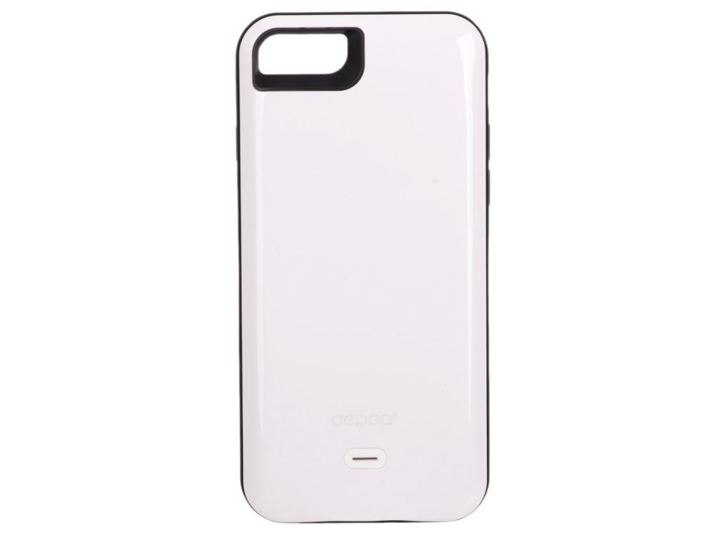 Аккумулятор Deppa Чехол-аккумулятор NRG Case для Apple iPhone 7, 2600mAh, белый, Deppa аккумулятор deppa apple watch nrg watch 900 mah mfi белый 33516