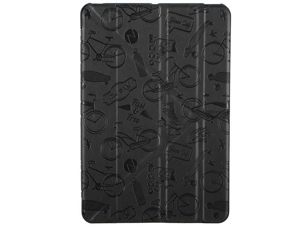 Чехол Deppa подставка Wallet Onzo для Apple iPad mini 3/2 c тиснением, темно-серый, Deppa чехол deppa wallet onzo для ipad mini 4 чёрный