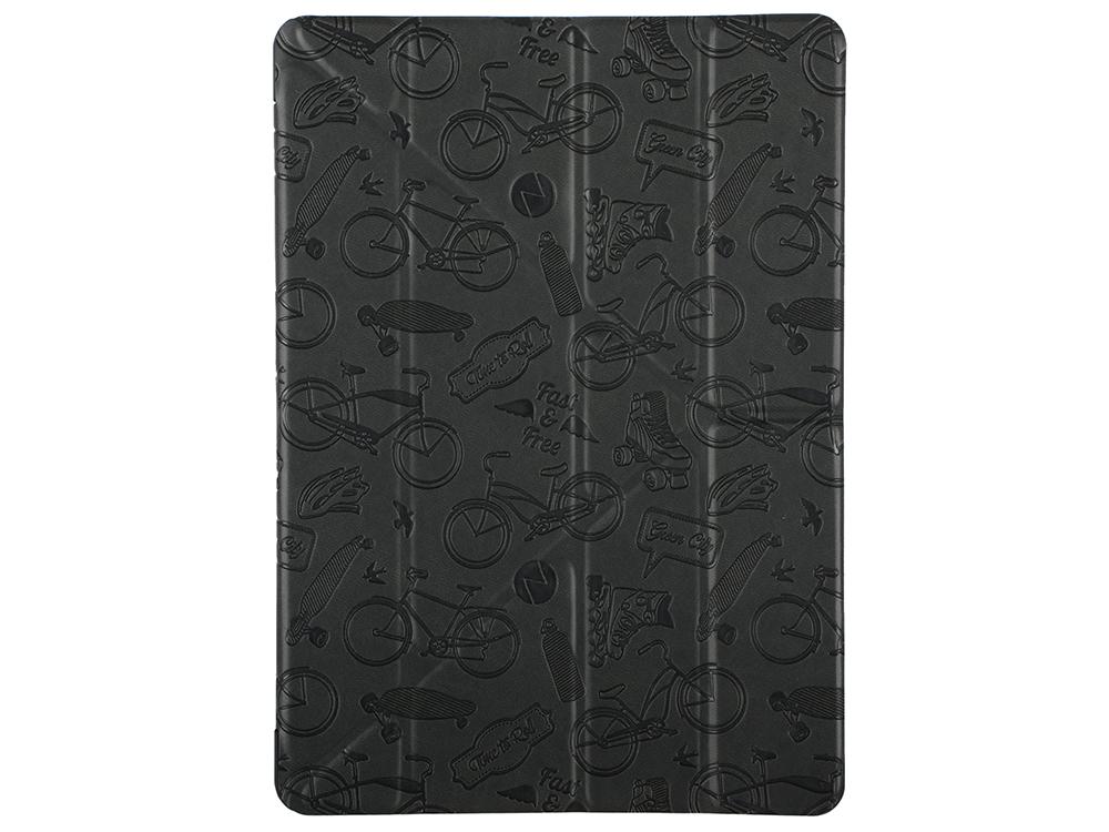 Чехол Deppa подставка Wallet Onzo для Apple iPad Pro 9.7 c тиснением, темно-серый, Deppa чехол deppa wallet onzo для ipad mini 4 чёрный