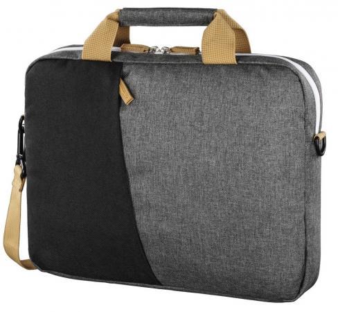 Сумка для ноутбука 15.6 Hama Florence черный/серый полиэстер (00101568) сумка для ноутбука 17 3 hama sportsline bordeaux черно серый полиэстер 101094