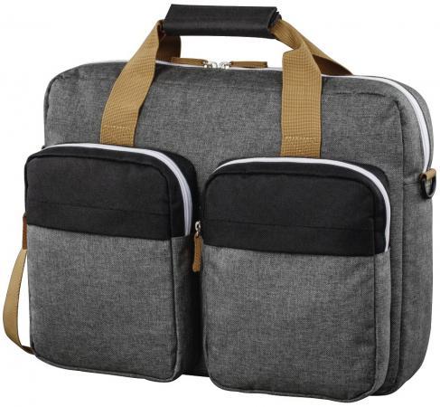 Сумка для ноутбука 15.6 Hama Florence II черный/серый полиэстер (00101569) сумка для ноутбука 17 3 hama sportsline bordeaux черно серый полиэстер 101094