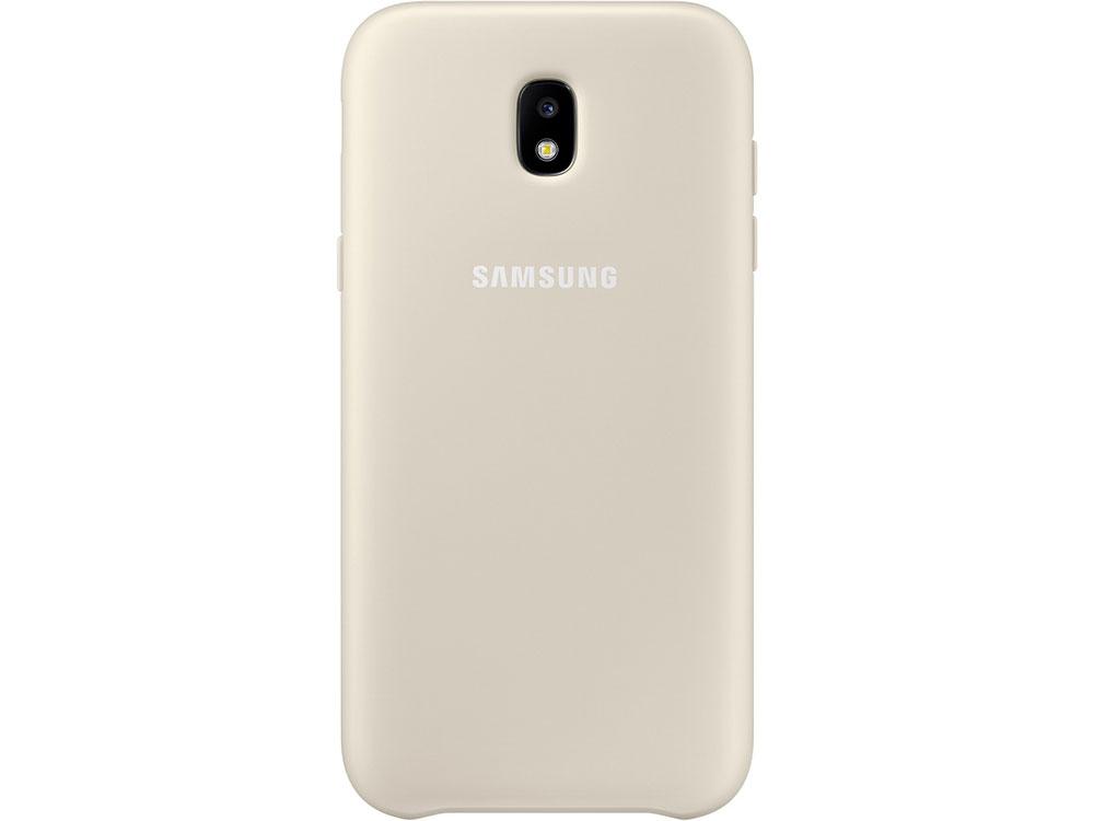 Чехол Samsung EF-PJ530CFEGRU для Samsung Galaxy J5 2017 Dual Layer Cover золотистый браун роуз дизайн кожа pu откидная крышка бумажника карты держатель чехол для samsung j5