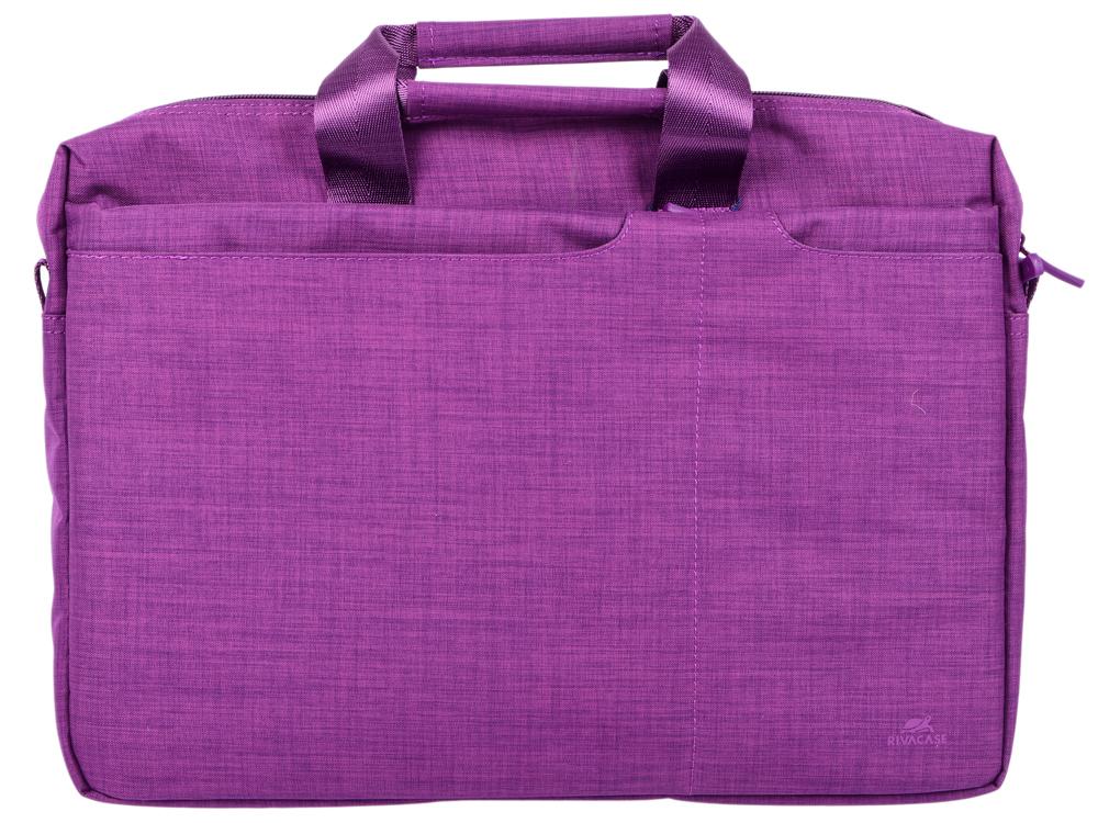 Сумка для ноутбука 15.6 Riva 8335 полиэстер пурпурный цена