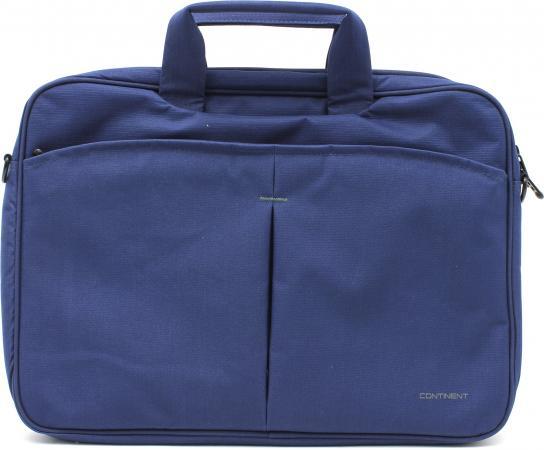 Сумка для ноутбука 15.6 Continent CC-012 нейлон синий сумка для ноутбука 16 continent cl 105 кожа синий