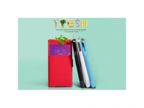 Чехол Nillkin Fresh Series Leather Case для Sony Xperia Z2 белый T-N-SZ2-001 стоимость