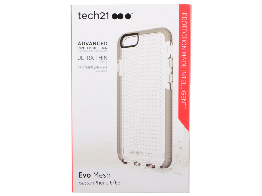 Чехол Tech21 Evo Mesh iPhone 6/6S Clear/Grey чехол для iphone tech21 t21 5094 clear grey