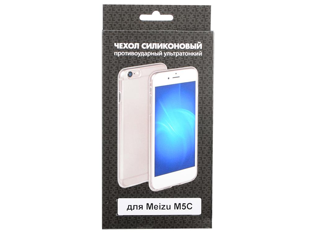 Чехол-накладка для Meizu M5C DF mzCase-18 клип-кейс, силикон, прозрачный